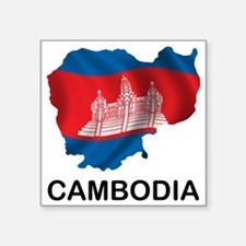 "Cambodia2 Square Sticker 3"" x 3"""