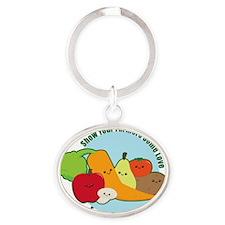 Farmersmarket Oval Keychain
