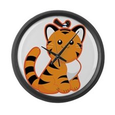 Tiger-magpie Large Wall Clock