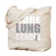 Cure-Lung-Cancer-blk Tote Bag