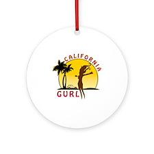 CaliforniaGurlzDark Round Ornament