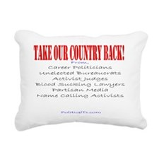 Take our country back, f Rectangular Canvas Pillow