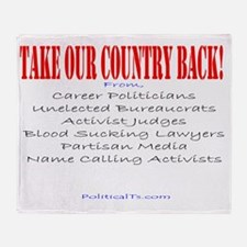 Take our country back, from Throw Blanket