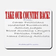 Take our country back, from Mousepad