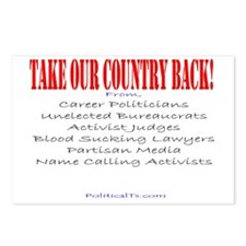 Take our country back, fr Postcards (Package of 8)