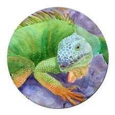 iguana-upsize Round Car Magnet