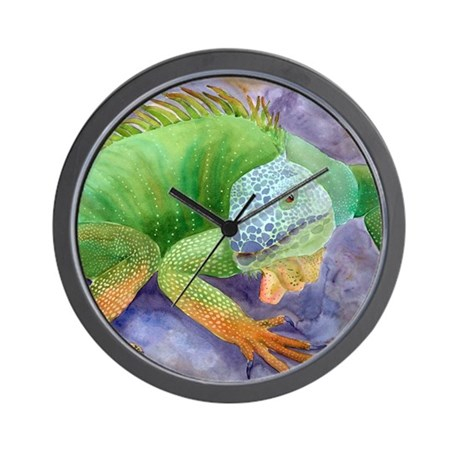 iguana-upsize Wall Clock