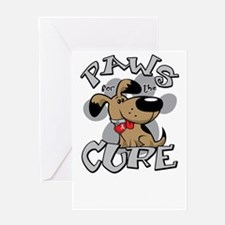 Paws-for-the-Cure-Lung-Cancer-blk Greeting Card