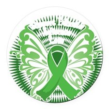 Muscular-Dystrophy-Butterfly-3-bl Round Car Magnet