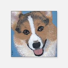 "tri colored pembroke welsh  Square Sticker 3"" x 3"""