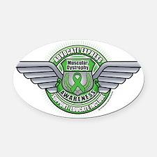 Muscular-Dystrophy-Medal Oval Car Magnet