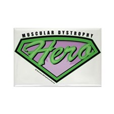 Muscular-Dystrophy-Hero Rectangle Magnet