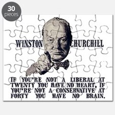 Churchill Liberals and Conservatives lights Puzzle
