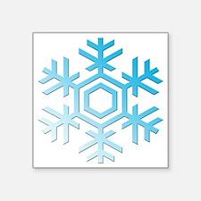 """Snowflake Square Sticker 3"""" x 3"""""""