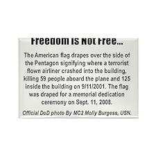 Pentagon Flag Memorial Inside Car Rectangle Magnet