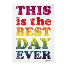 Best Day Ever Poster 5'x7'Area Rug