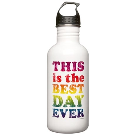 Best Day Ever Poster Stainless Water Bottle 1.0L
