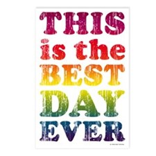 Best Day Ever Poster Postcards (Package of 8)