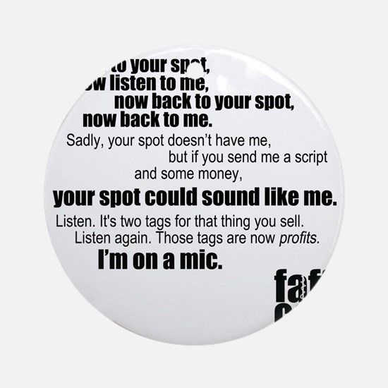 Im-on-a-mic_black Round Ornament
