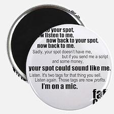 Im-on-a-mic_black Magnet