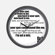 Im-on-a-mic_black Wall Clock