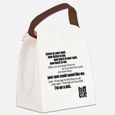Im-on-a-mic_black Canvas Lunch Bag