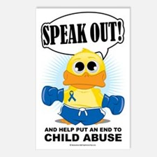 Boxing-Duck-Child-Abuse Postcards (Package of 8)