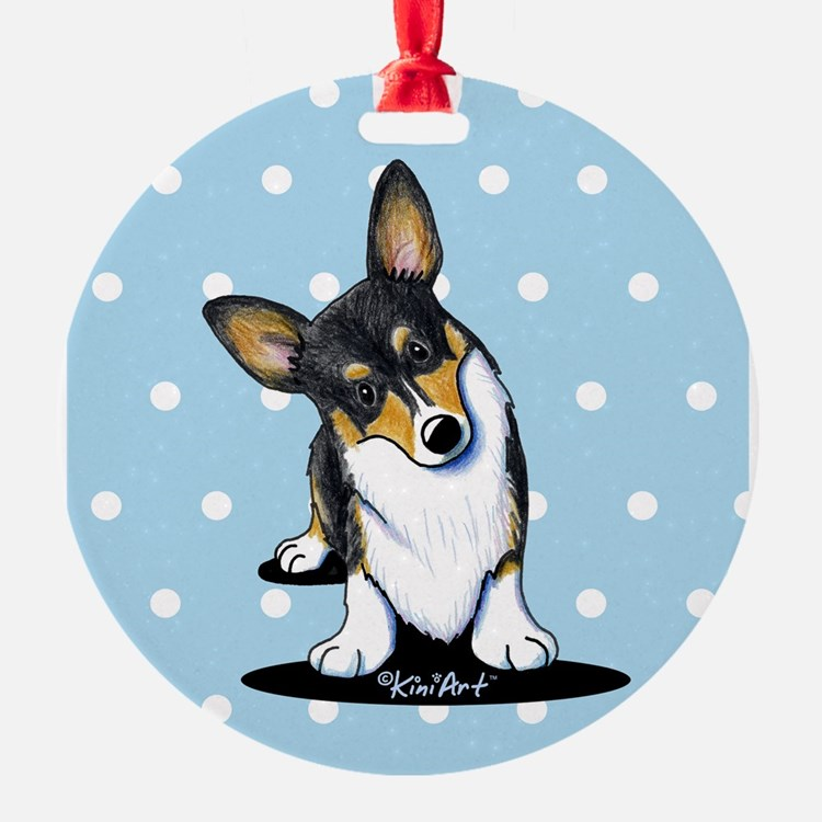 KiniArt Tricolor Corgi Ornament