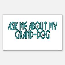 Grand-Dog (2) Rectangle Decal