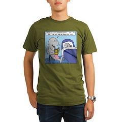 Shark Bedtime Story Organic Men's T-Shirt (dark)