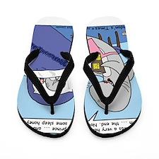 Shark Bedtime Story Flip Flops