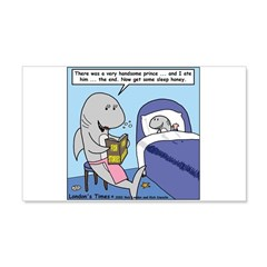 Shark Bedtime Story Wall Decal