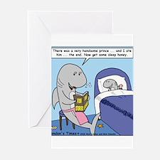 Shark Bedtime Story Greeting Cards (Pk of 10)