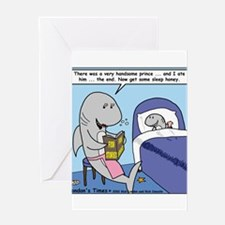 Shark Bedtime Story Greeting Card