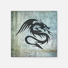 """Dragon Art Square Sticker 3"""" x 3"""""""