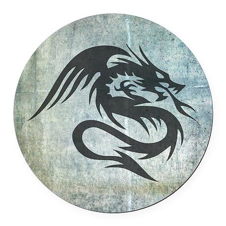 Dragon Art Round Car Magnet