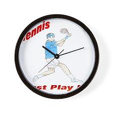 tennis player apparel Wall Clock