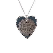 Newark manhole coaster Necklace