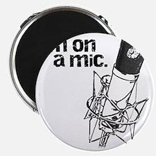 Im-on-a-mic-short_black Magnet