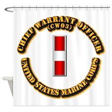 USMC - Chief Warrant Officer - CW3 Shower Curtain