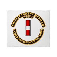 USMC - Chief Warrant Officer - CW3 Throw Blanket