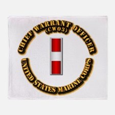 USMC - Chief Warrant Officer - CW3 Throw Blanket