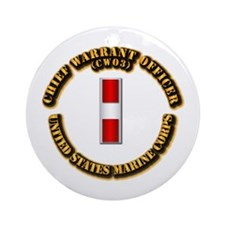 USMC - Chief Warrant Officer - CW3 Ornament (Round
