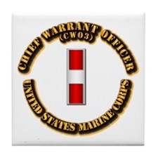 USMC - Chief Warrant Officer - CW3 Tile Coaster