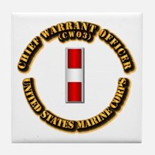 USMC - Chief Warrant Officer - CW3 Tile Coaster