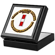 USMC - Chief Warrant Officer - CW3 Keepsake Box