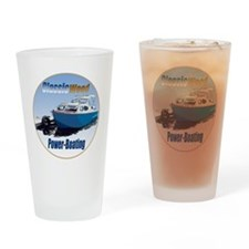 ClassicPowerboat-C8 Drinking Glass