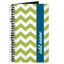 Lime Blue Chevrons Journal