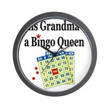 2-bingo 1 Wall Clock