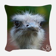 Ostrich I Woven Throw Pillow